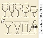 illustration of alcohol  wine ... | Shutterstock .eps vector #129760448