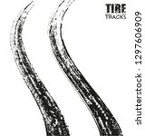 grunge tire track background... | Shutterstock .eps vector #1297606909