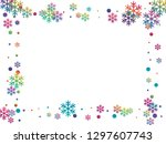 winter snowflakes and circles... | Shutterstock .eps vector #1297607743