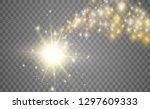 blazing shooting star. star... | Shutterstock .eps vector #1297609333
