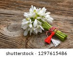 snowdrops  1st of march... | Shutterstock . vector #1297615486