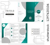 trifold corporate brochure... | Shutterstock .eps vector #1297620106