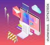 digital marketing vector...   Shutterstock .eps vector #1297625836