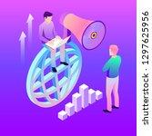digital marketing vector...   Shutterstock .eps vector #1297625956