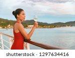 luxury cruise ship travel... | Shutterstock . vector #1297634416