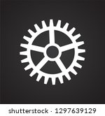 gear icon on black background... | Shutterstock .eps vector #1297639129