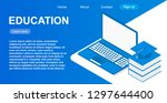 website template of web page... | Shutterstock .eps vector #1297644400