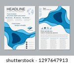 modern business two sided flyer ... | Shutterstock .eps vector #1297647913