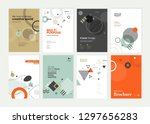 set of brochure  annual report  ... | Shutterstock .eps vector #1297656283