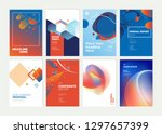 set of brochure  annual report  ... | Shutterstock .eps vector #1297657399