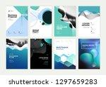 set of brochure  annual report  ... | Shutterstock .eps vector #1297659283