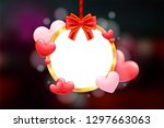 valentine's day holiday card... | Shutterstock .eps vector #1297663063