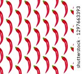 red peppers seamless pattern... | Shutterstock . vector #1297663393