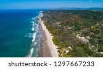 Aerial View from Beach in Santa Teresa in Costa Rica