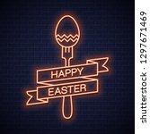 easter neon menu. happy easter...   Shutterstock .eps vector #1297671469