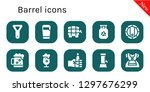 barrel icon set. 10 filled... | Shutterstock .eps vector #1297676299
