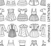 seamless pattern of various...   Shutterstock .eps vector #1297676620