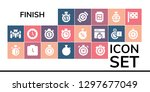 finish icon set. 19 filled... | Shutterstock .eps vector #1297677049