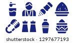 shaker icon set. 8 filled... | Shutterstock .eps vector #1297677193