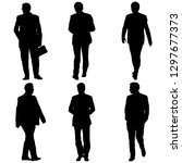 set silhouette businessman man... | Shutterstock . vector #1297677373