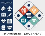 frequency icon set. 13 filled... | Shutterstock .eps vector #1297677643