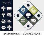 prepare icon set. 13 filled... | Shutterstock .eps vector #1297677646
