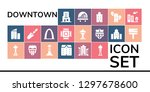 downtown icon set. 19 filled... | Shutterstock .eps vector #1297678600