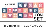 chance icon set. 19 filled... | Shutterstock .eps vector #1297679800