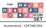 pair icon set. 19 filled pair... | Shutterstock .eps vector #1297681303