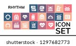 rhythm icon set. 19 filled... | Shutterstock .eps vector #1297682773