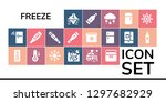 freeze icon set. 19 filled... | Shutterstock .eps vector #1297682929