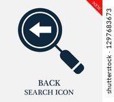 back search icon. editable back ...