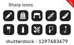 sharp icon set. 10 filled... | Shutterstock .eps vector #1297683679