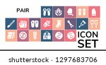 pair icon set. 19 filled pair... | Shutterstock .eps vector #1297683706