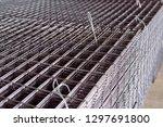 metal grid. heavy industry... | Shutterstock . vector #1297691800