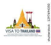 visa to thailand. document for... | Shutterstock .eps vector #1297694350