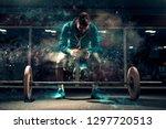 attractive caucasian man in... | Shutterstock . vector #1297720513