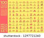 mega set and big group  real... | Shutterstock .eps vector #1297721260