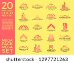 mega set and big group  real... | Shutterstock .eps vector #1297721263