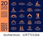 mega set and big group  real... | Shutterstock .eps vector #1297721266