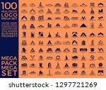mega set and big group  real... | Shutterstock .eps vector #1297721269
