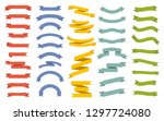 ribbons banners collection.... | Shutterstock .eps vector #1297724080