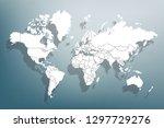 world map paper. political map... | Shutterstock .eps vector #1297729276