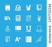 16 learning icons with book and ... | Shutterstock .eps vector #1297732336