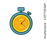 money is time icon for apps and ... | Shutterstock .eps vector #1297735369