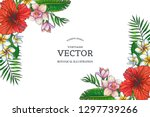 vector vintage color tropical... | Shutterstock .eps vector #1297739266