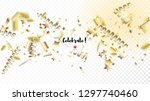 modern tinsel confetti isolated ...   Shutterstock .eps vector #1297740460