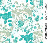 seamless pattern with small... | Shutterstock .eps vector #1297748350