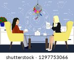 young girl in consultation with ...   Shutterstock .eps vector #1297753066