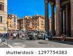 rome  italy   september 30 2018 ... | Shutterstock . vector #1297754383